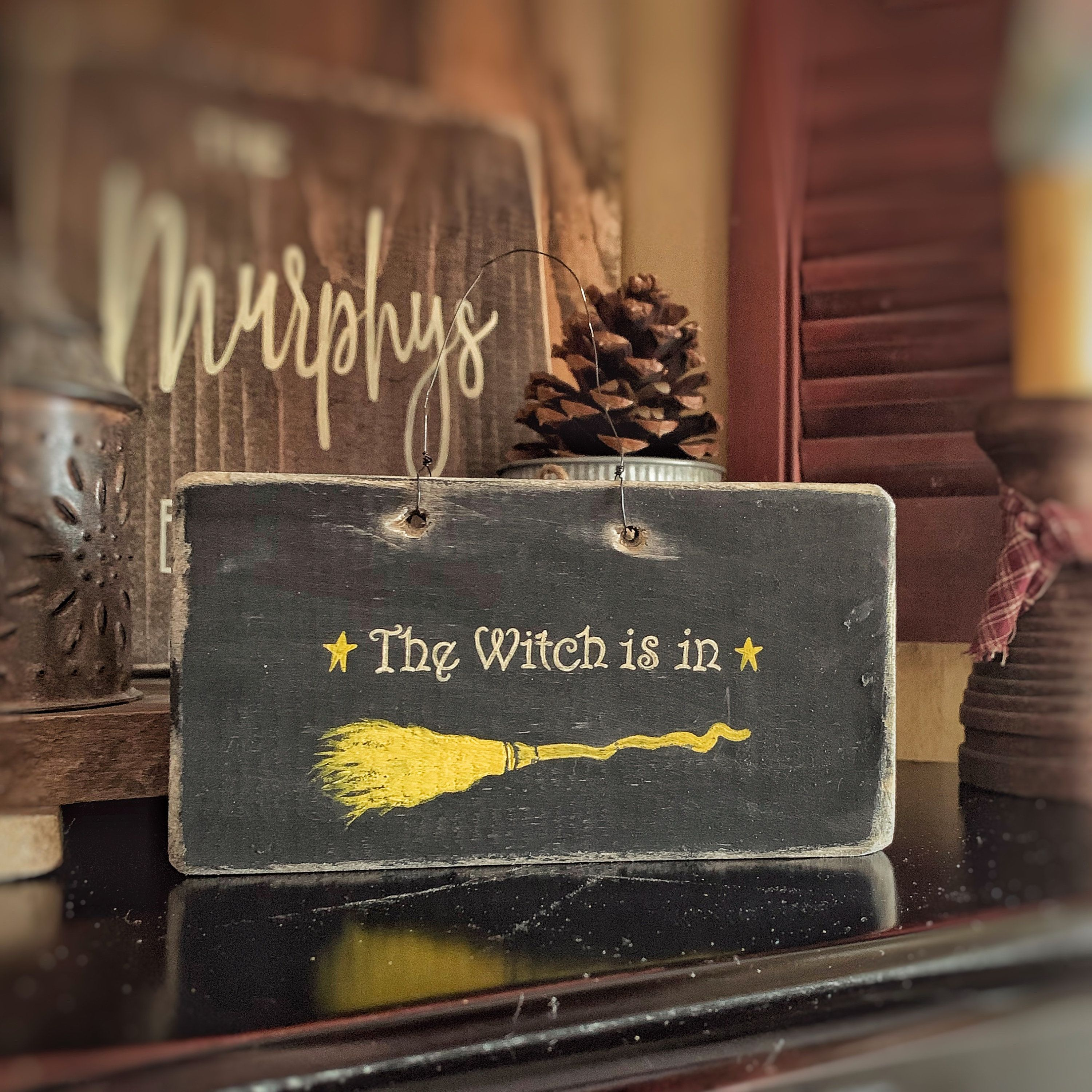Halloween 2020 - I Be The Witch Of The Wood Witch Decor Witch Is In Witch Is Out Wood Sign Witch Decor | Etsy