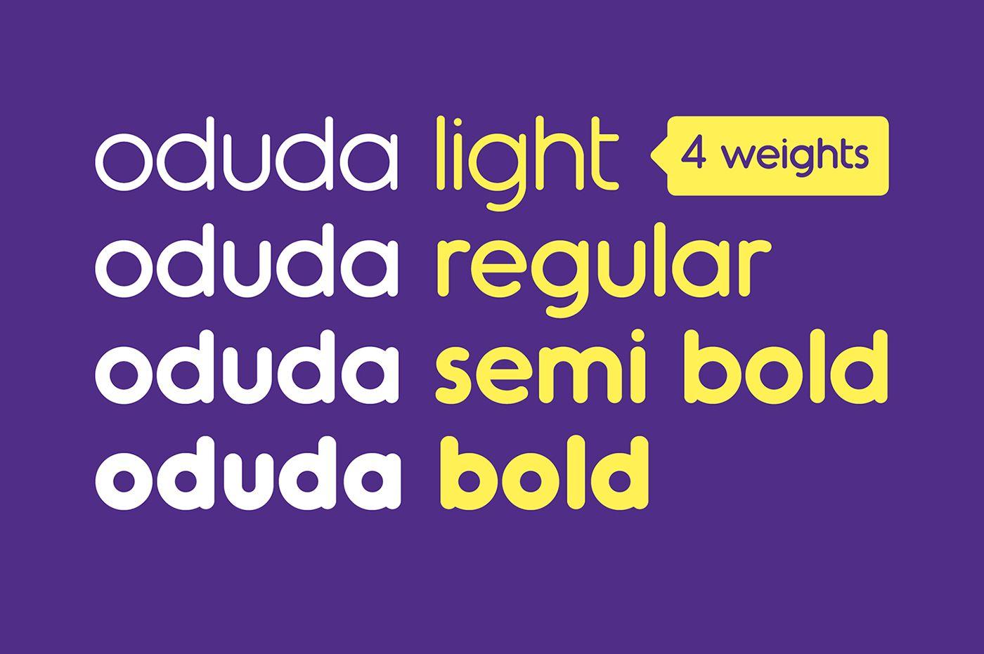 Oduda - Rounded Typeface on Behance