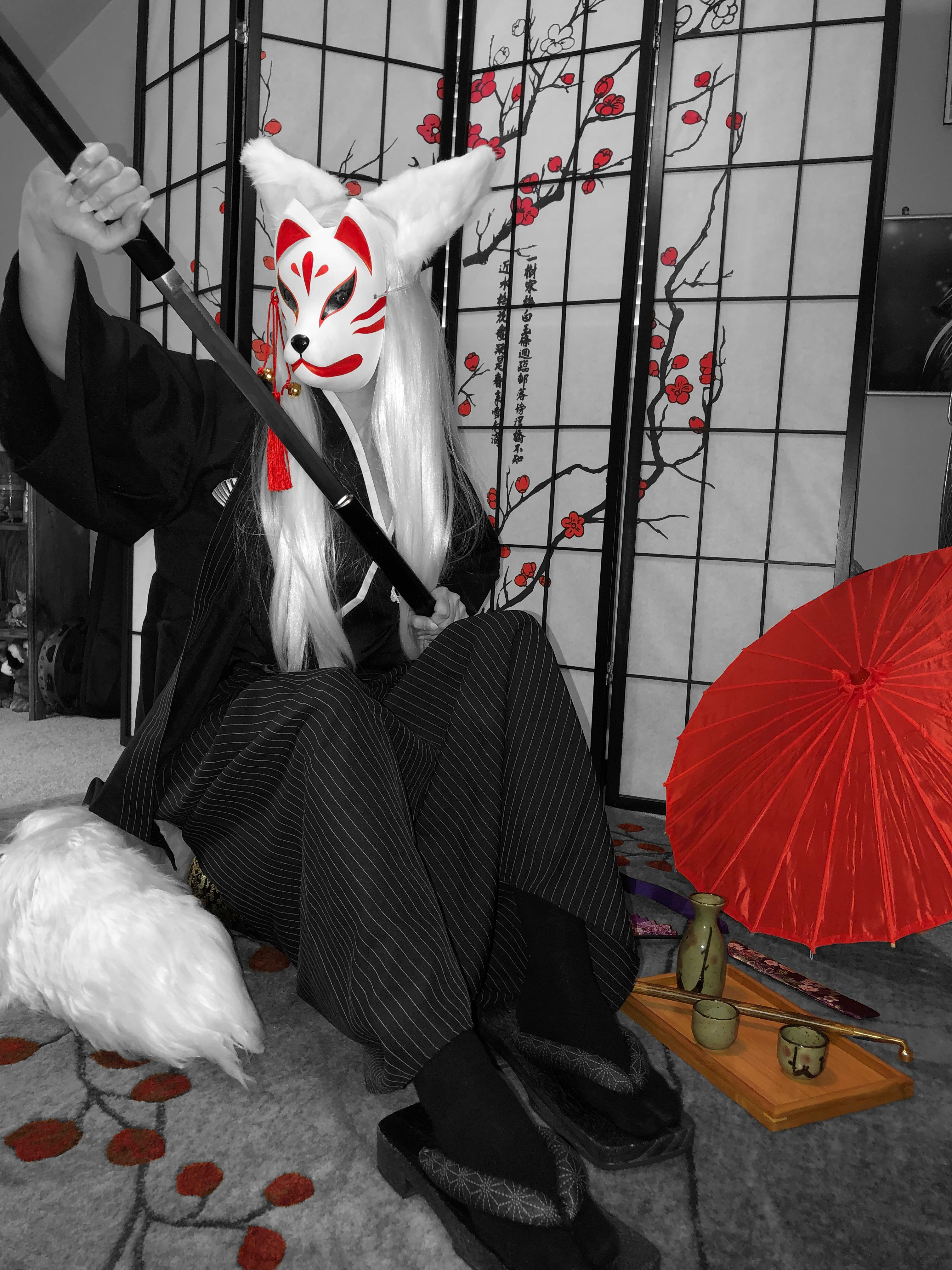 kitsune kitsunecosplay cosplay colorsplash in 2020