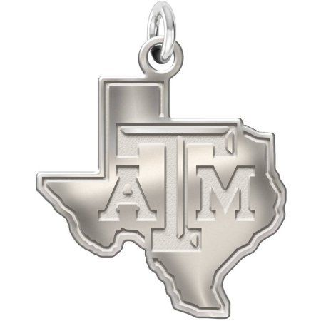 Ncaa Texas A Aggies Natural Finish Sterling Silver Charm