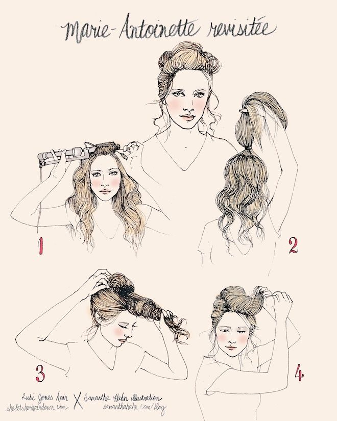 Tutorial Marie Antoinette Revisited She Lets Her Hair Down Marie Antoinette Coiffures Historiques Marie