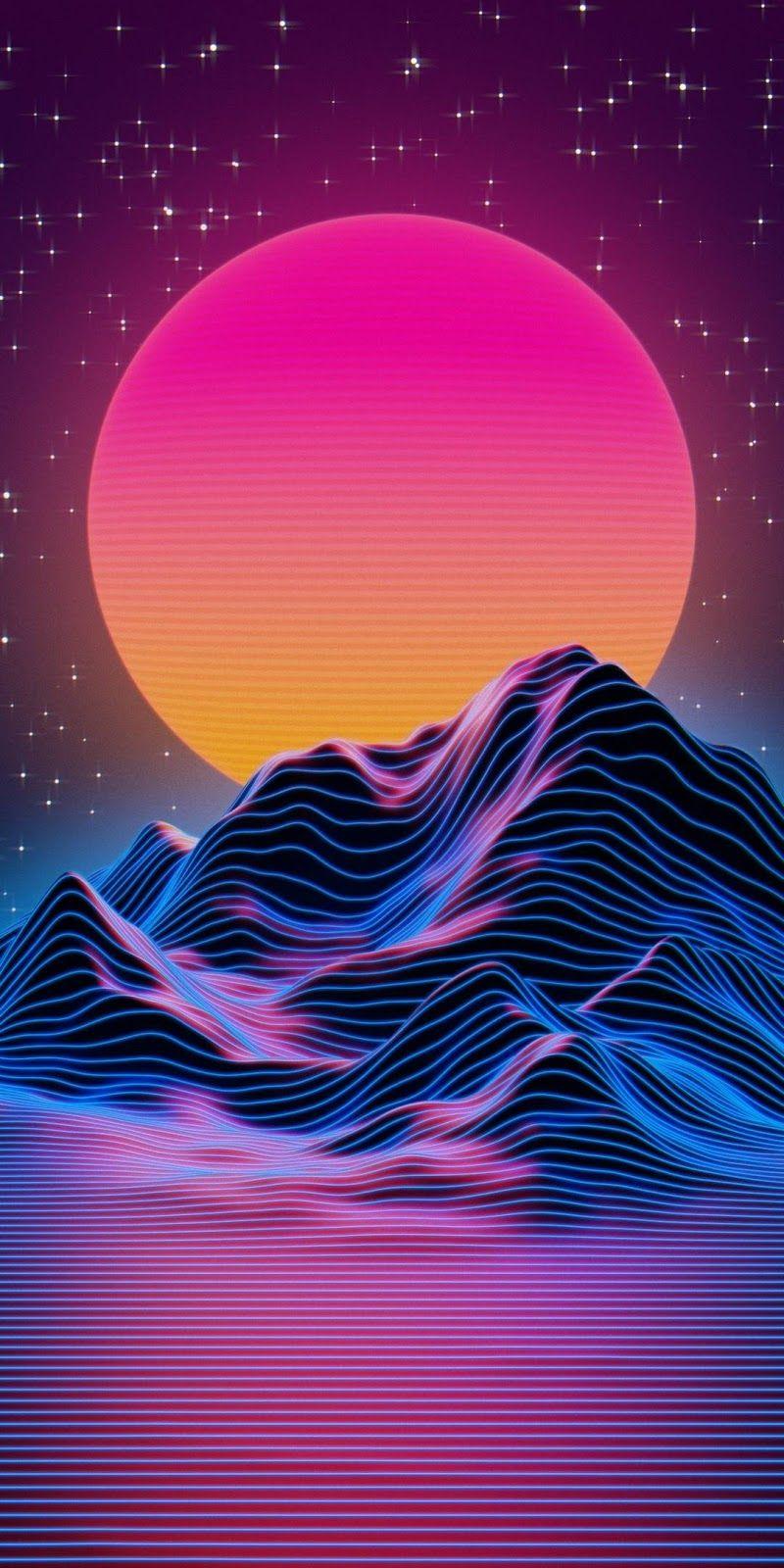 Vaporwave Sunset In 2020 Vaporwave Wallpaper Synthwave Art Phone Wallpaper