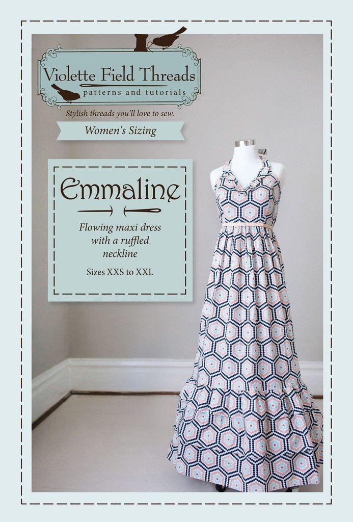 Emmaline Misses Printed Sewing Pattern   Violette Field Threads