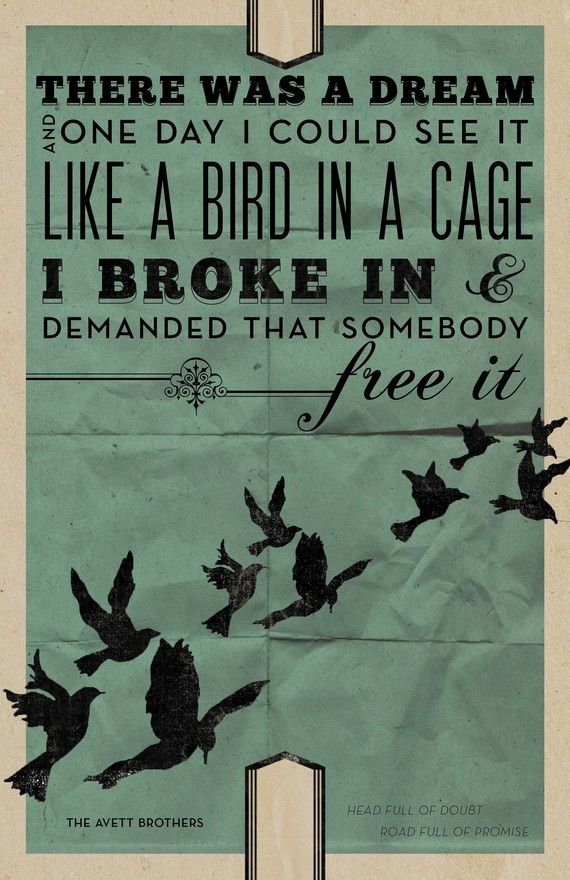 Like a bird in a cage ...
