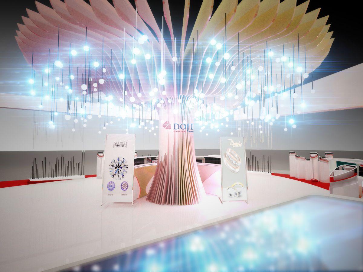 Exhibition Stand Tree : Doji exhibition booth on behance … creative design
