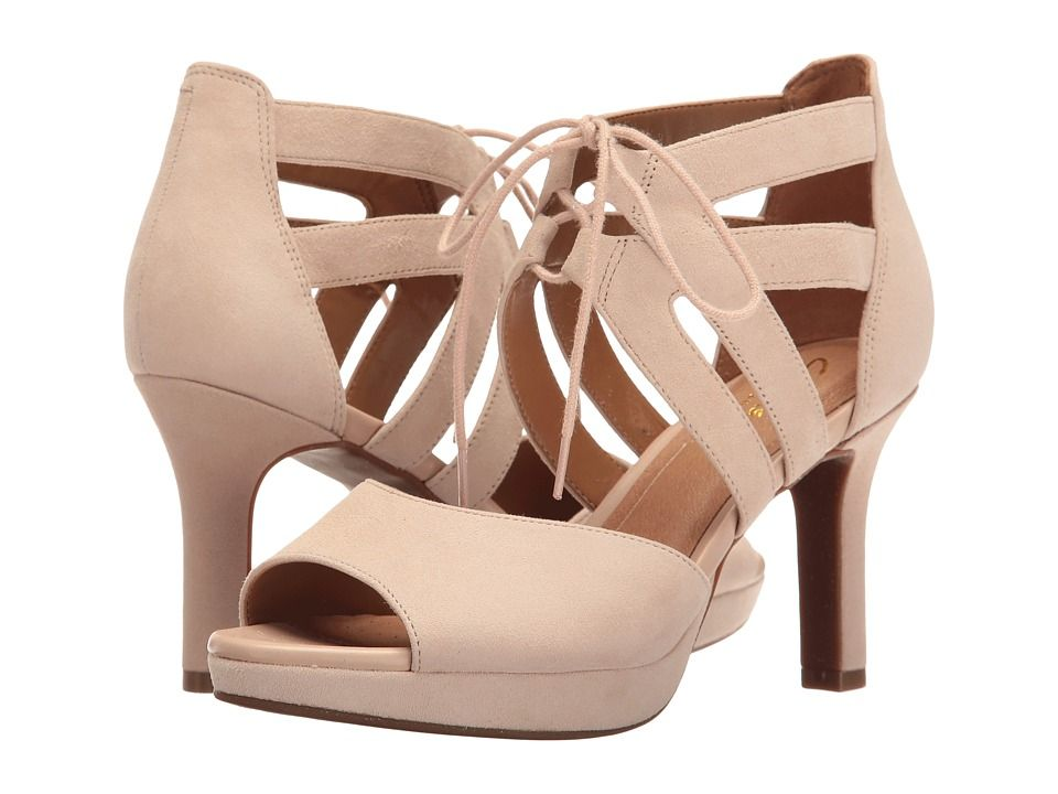61fa12f1bc CLARKS CLARKS - MAYRA ELLIE (NUDE SUEDE) WOMEN'S SANDALS. #clarks #shoes #