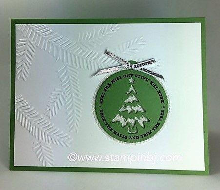 An easy Christmas Card.  #stampinbj.com