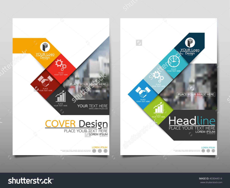 Blue Square Annual Report Brochure Flyer Design Template Vector – Annual Report Brochure
