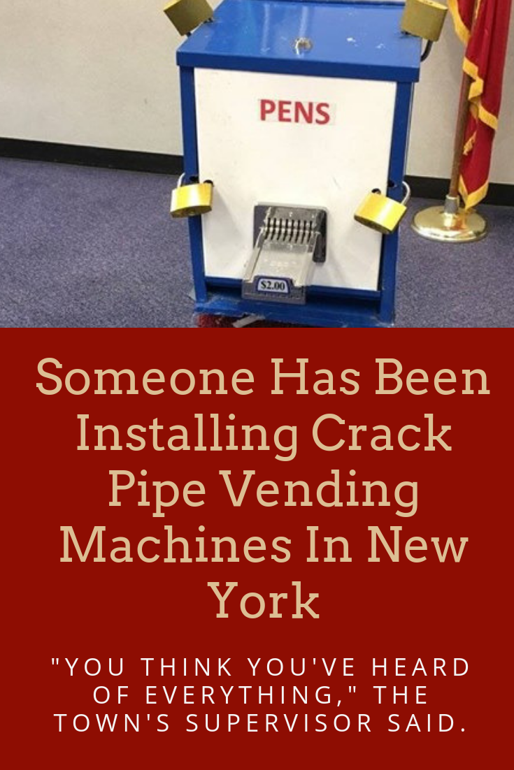 Someone Has Been Installing Crack Pipe Vending Machines In New York