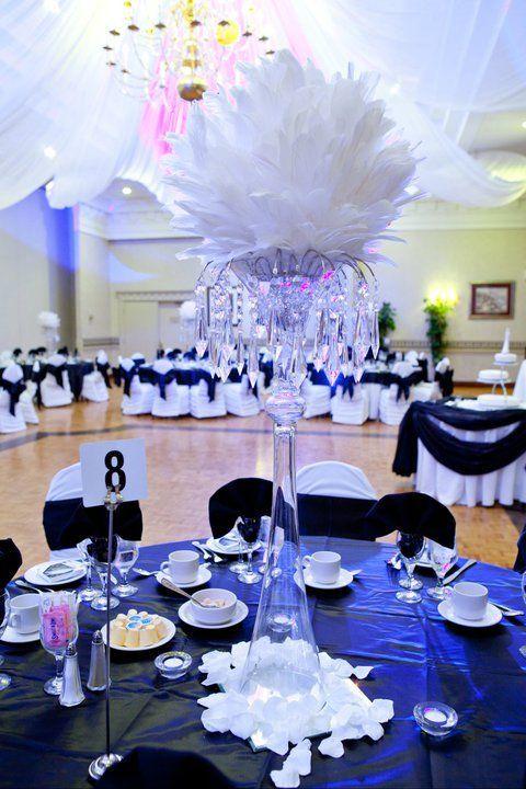 Goose Feather Balls Mardi Gras Wedding