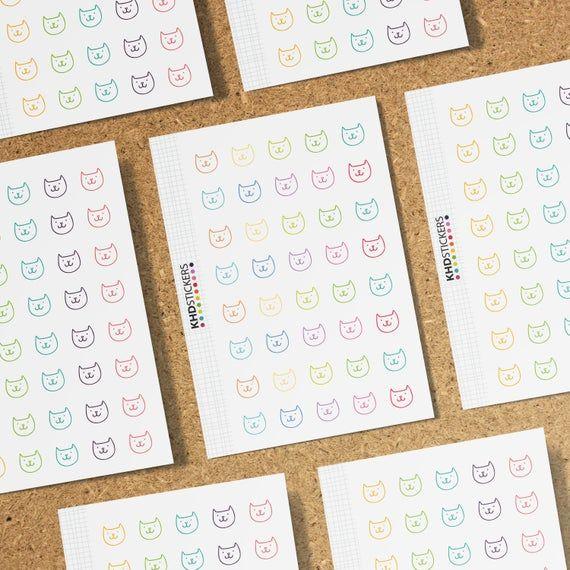 Cat Icons - Planner Stickers - Repositionable Matt