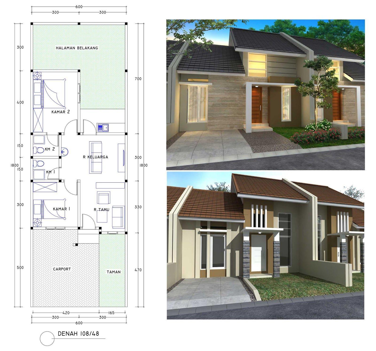 Desain Rumah Kontrakan 1 Kamar Cek Bahan Bangunan