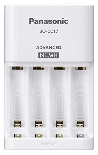 Panasonic Battery Eneloop Bq Cc17e B Advanced Battery Charger With 4 Led Indicator For Aa Aaa Ni Mh Battery White Panasonic Battery Charger Indicator Lights