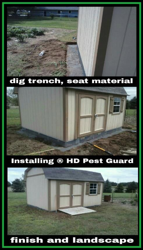 pestrodent barrier for under sheds and decks how to
