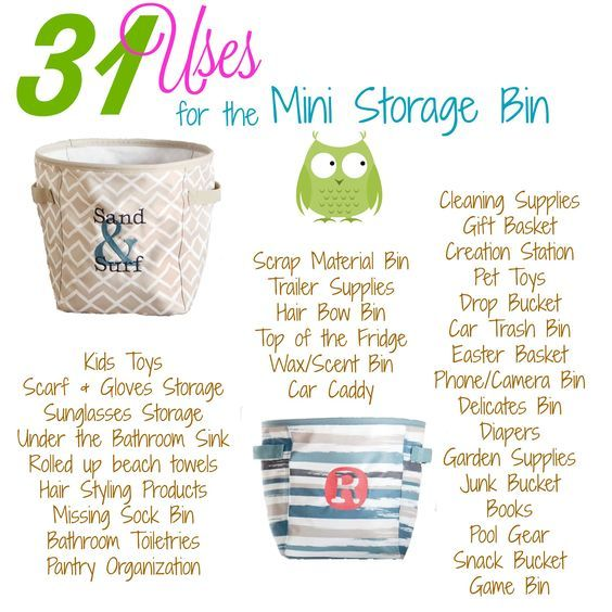 31 Amazing Uses For The Mini Storage Bin A New Product Spring Summer