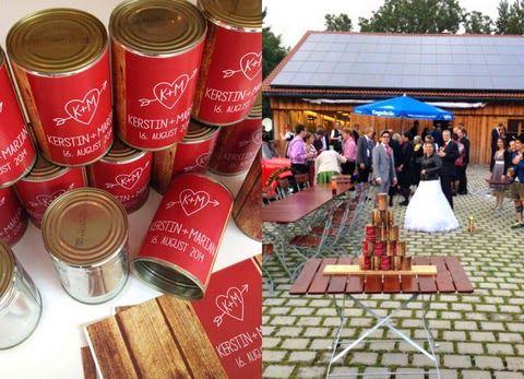 DIY outdoor wedding game // hochzeitsspiel // dosen werfen