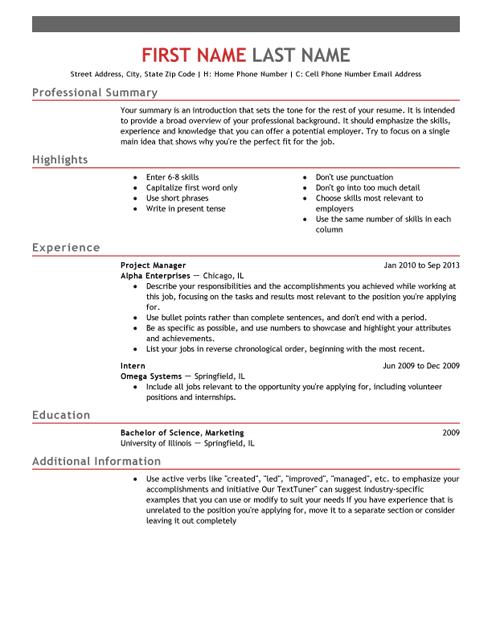 Http Www Livecareer Com Resume Templates Images Resume Template Emphasis 1 Png Resume Template Free Best Resume Template Free Professional Resume Template