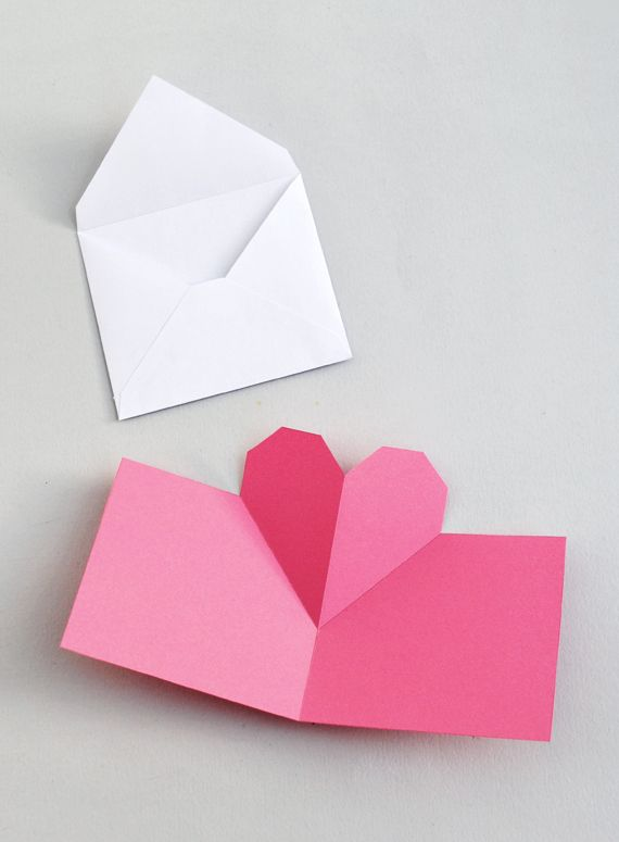 Geometric Heart Love Letters Popup Card Cartes Cards