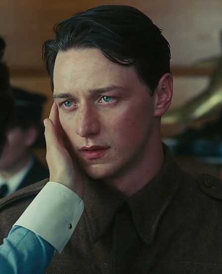 James McAvoy as Robbie Turner in the 2007 film Atonement ...