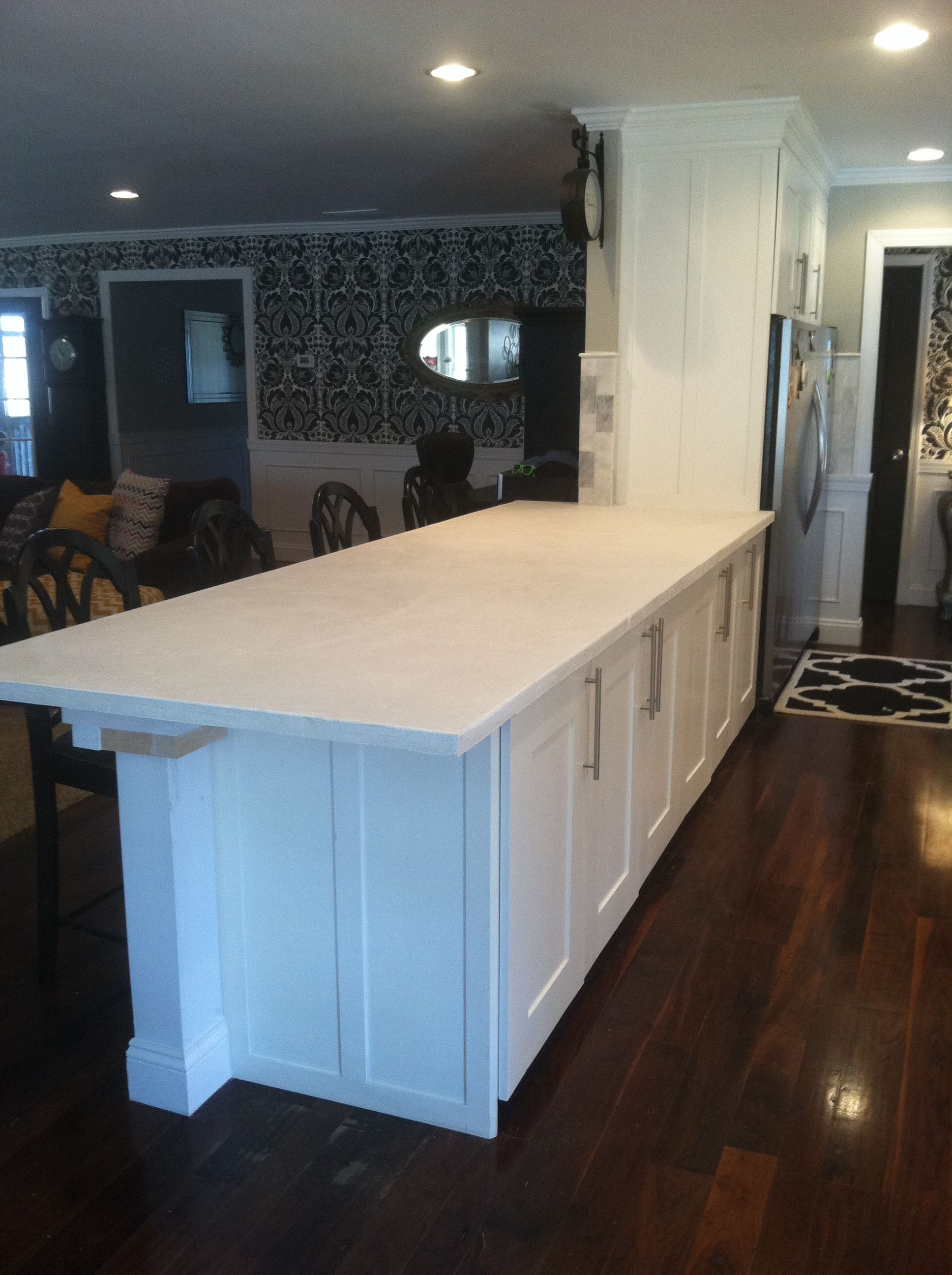White Concrete Countertop