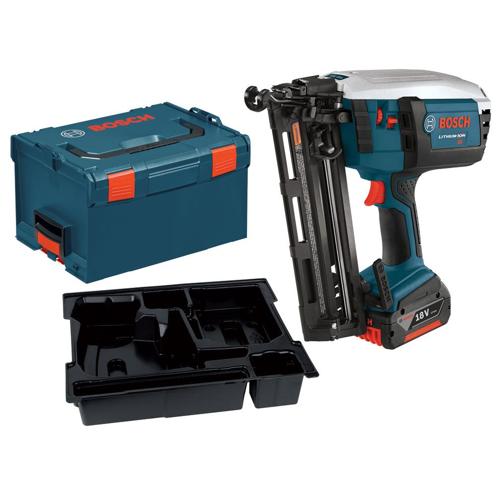 18v 16 Gauge Straight Finish Nailer With L Boxx3 Construction Fasteners And Tools Finish Nailer Framing Nailers Nailer