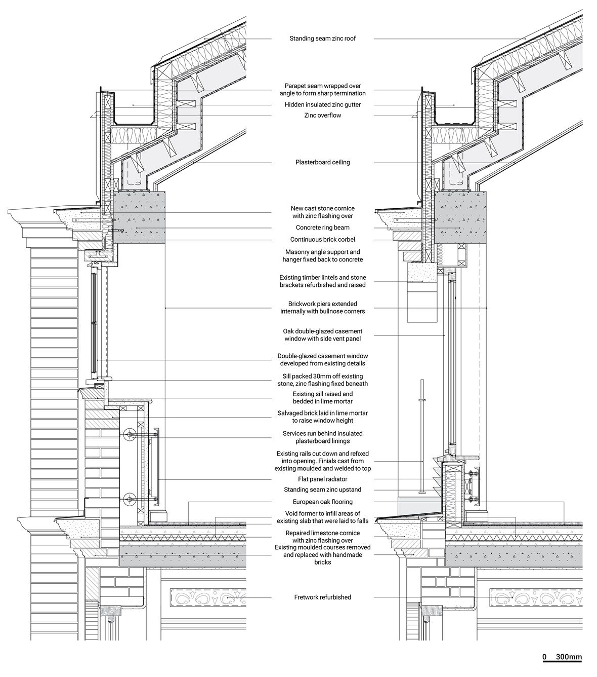 Club Row By Quinn Architects Drawing Details In 2019