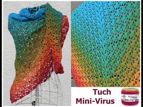 Tuch Mini Virus Häkeln Mit 1 Woolly Hugs Bobbel Cotton Mit