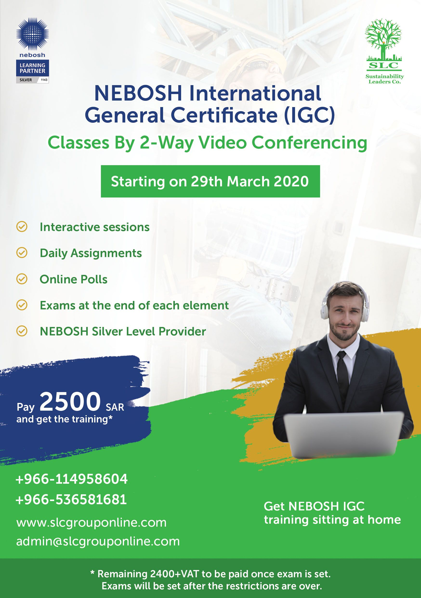 NEBOSH IGC Online Training Class in 2020 Video