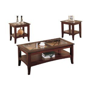 Poundex 3 Piece Coffee Table Dark Cherry Review Cheap Coffee Table Coffee Table Living Room Table Sets