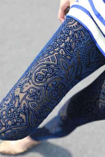Blue Velvet Legging