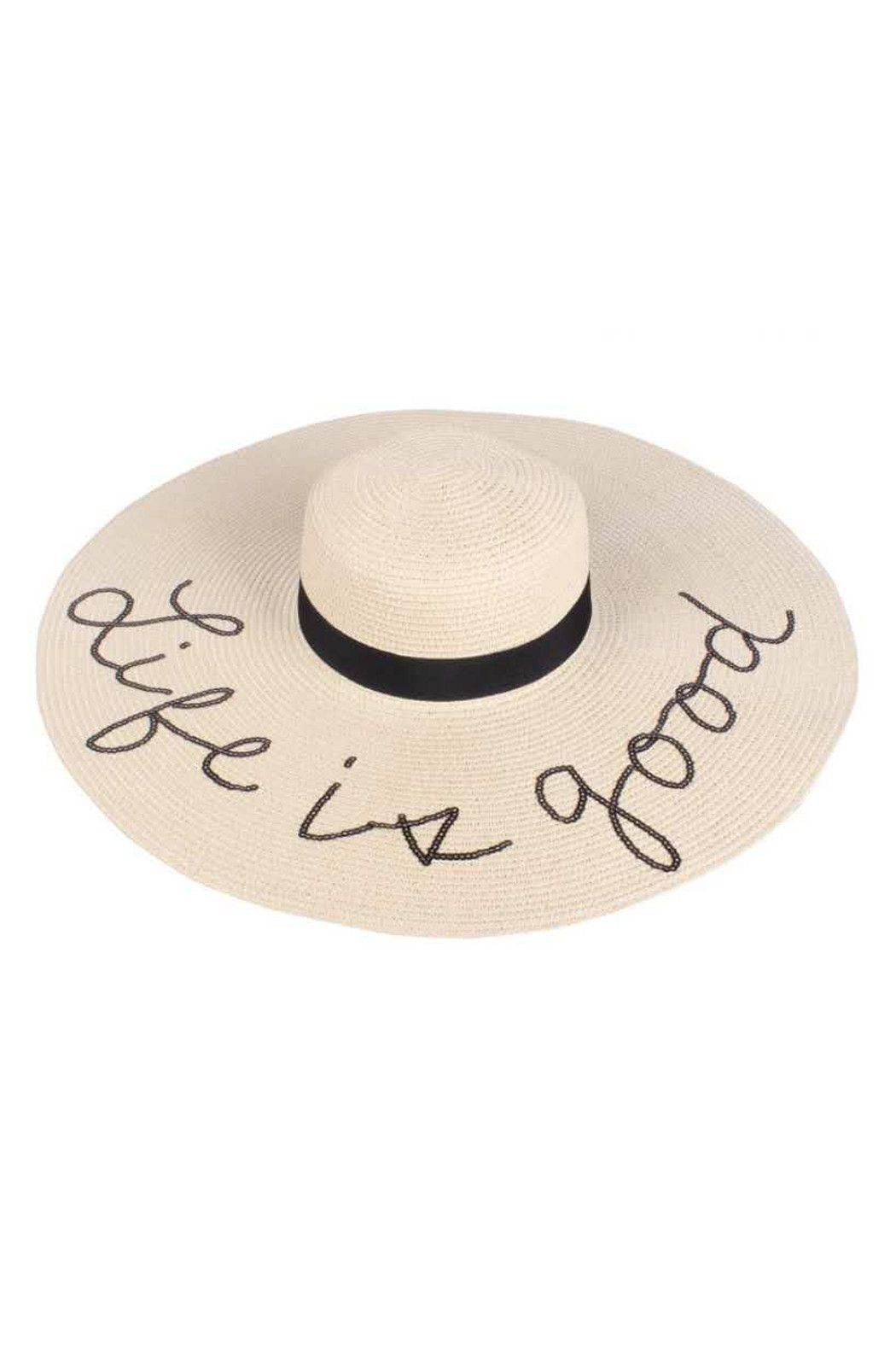 80459eb63d5 Beach Floppy Hats with Glitter Sequins Funny Verbiage