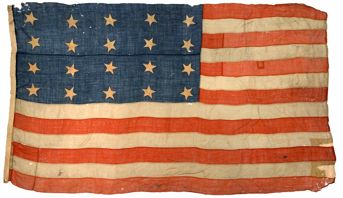 20 Star American Flag Circa 1818 1819 United States Navy Configuration Wool Bunting With Cotton Stars Old American Flag American Flag Flag