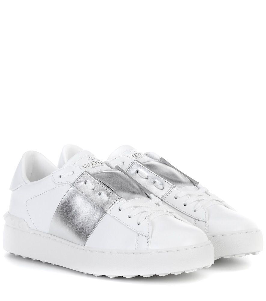 Metallic leather, Valentino sneakers