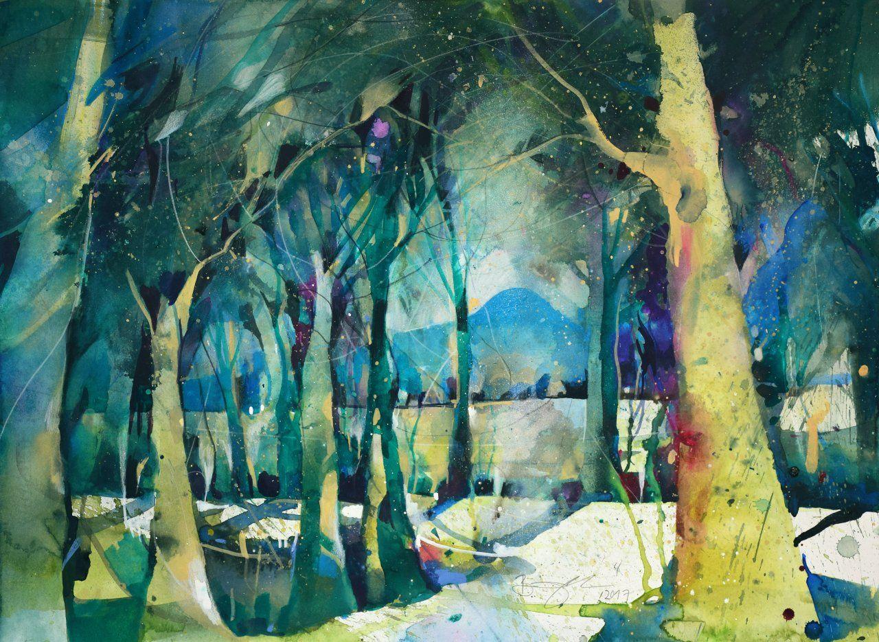 Werke Bernhard Vogel Mit Bildern Wasserfarben Kunst