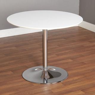 Carson Carrington Klemens Round Dining Table White White Metal