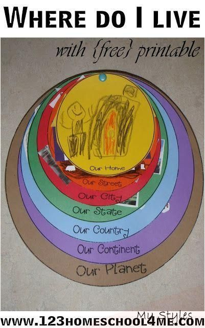 Where Do I Live Printable Activity #home #schooling #curriculum