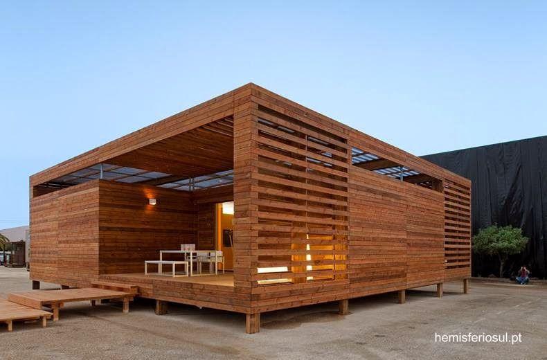 Casa c bica contempor nea de madera en angola refugio casas casas modulares y casas - Refugios de madera prefabricados ...