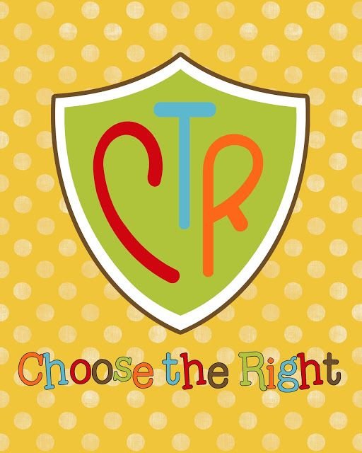 Free Prints 2017 Primary Theme Choose The Right Primary