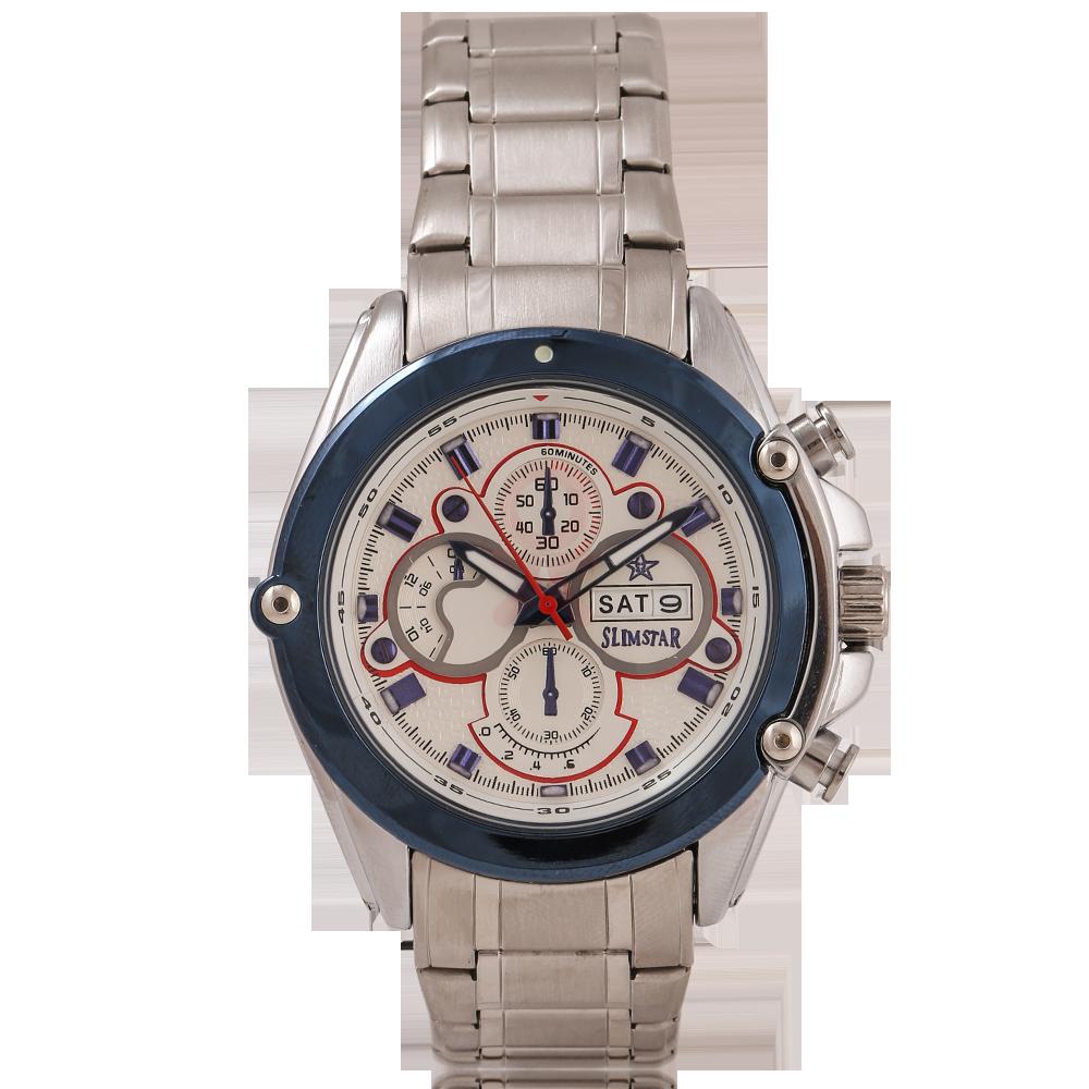 Buy Slimstar Stainless Steel Chronograph Designer Watch