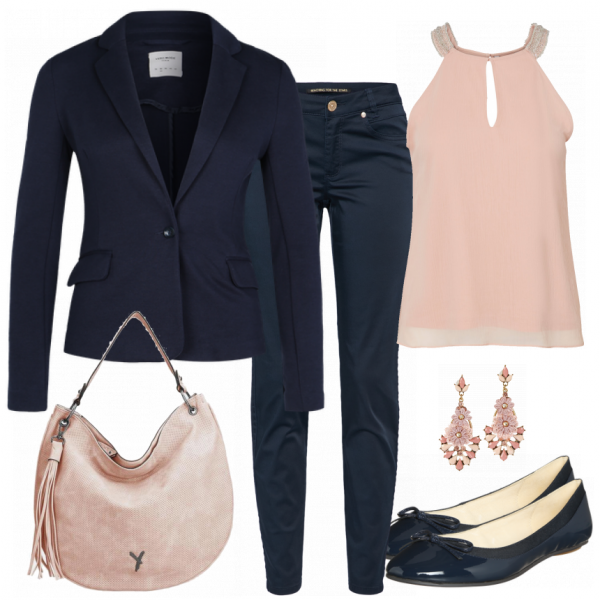 BlueandPink Outfit  – Business Outfits  bei FrauenOutfits.de