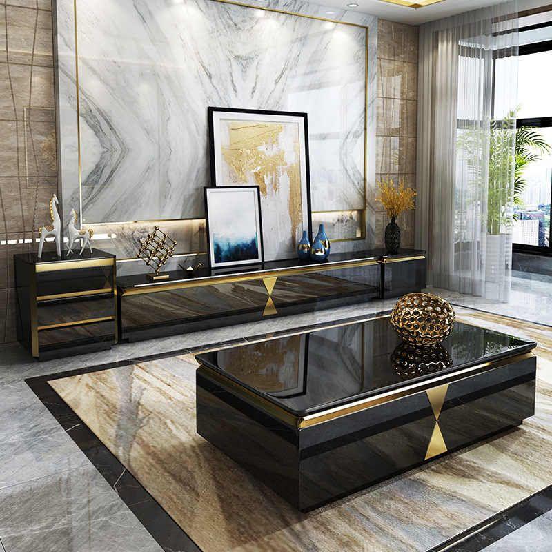 Light luxury tea table tv combination simple