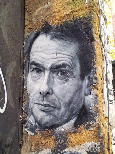 Pierre Bourdieu  Demeure du Chaos St Romain au mont d'Or (69) France 11/2013   #cart1 - More #streetart at www.Streetart.nl