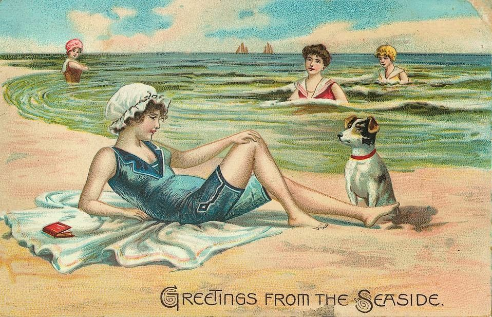 Image result for vintage postcard greetings from the seaside