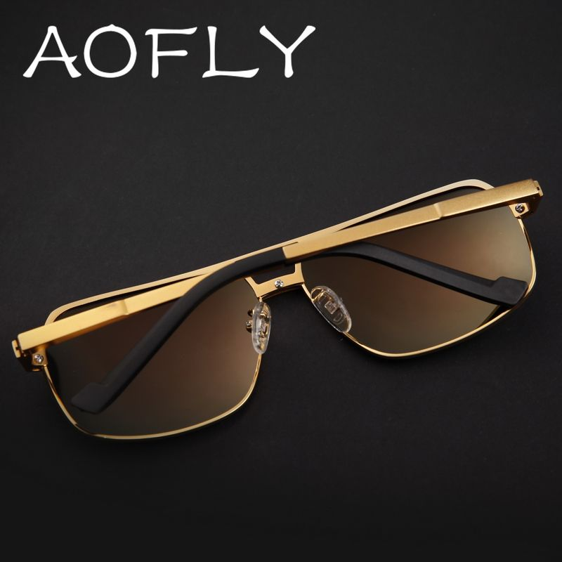 282d858957b AOFLY 2017 Men Square Steampunk Sunglasses Vintage Cool Summer Style Mirror  Sun Glasses Male Oculos Gafas With Case