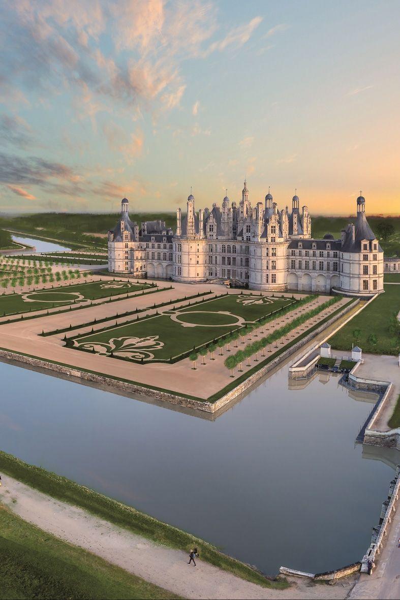 Les Jardins A La Francaise Chateau De Chambord Chateau De La