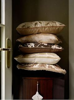 Barry's fabrics on pillows