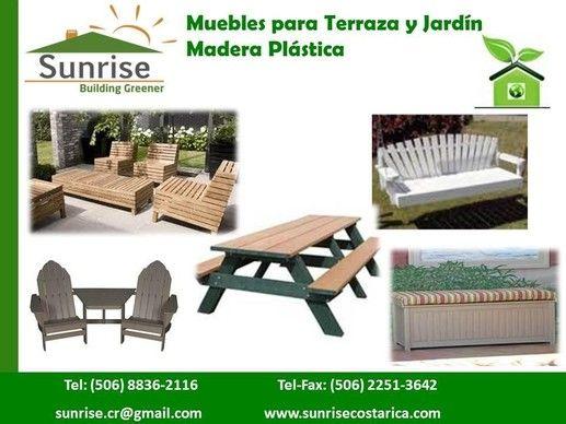 Muebles Para Terraza Y Jardín En Madera Plástica Sunrise