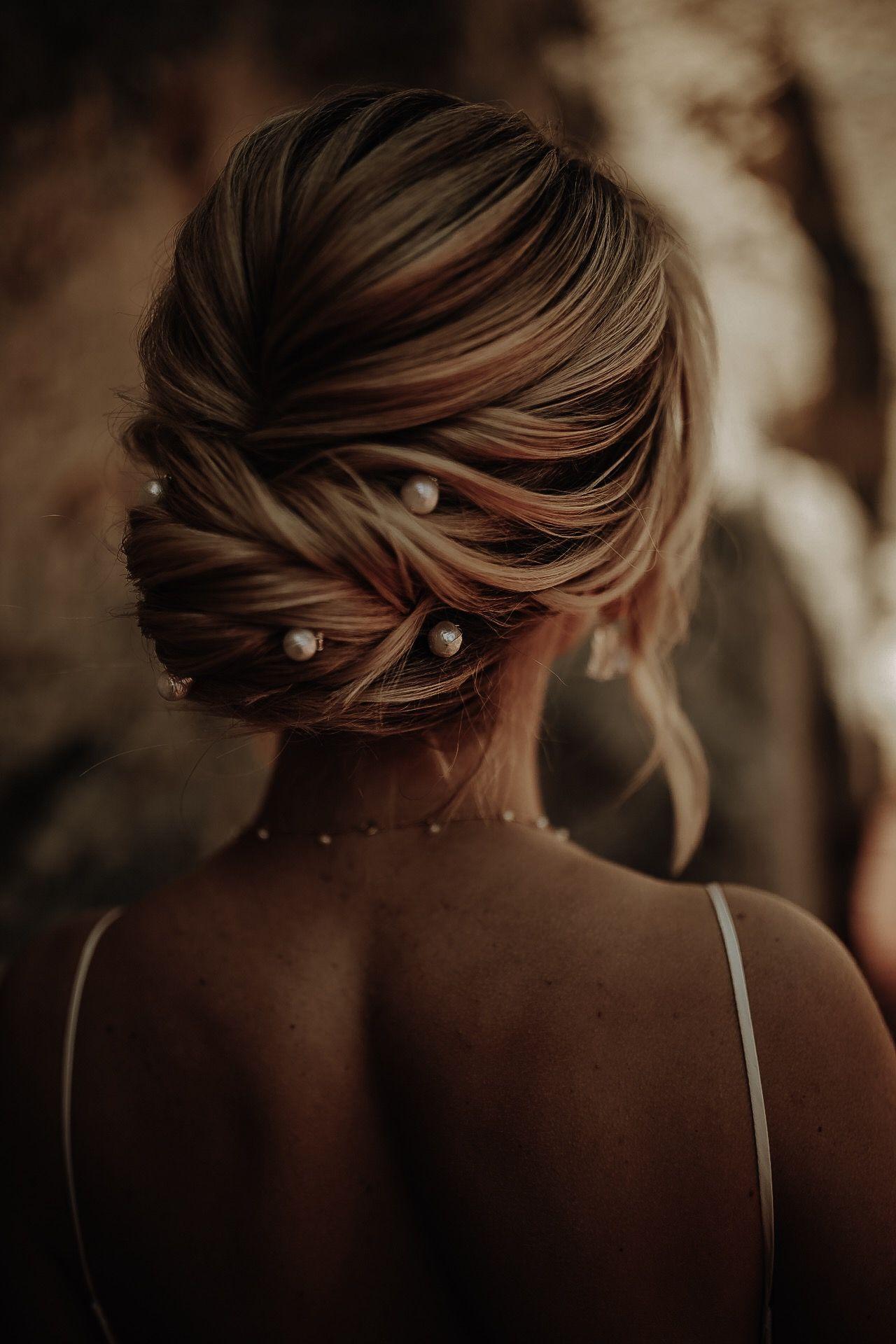 Pearl Boho Chic Wedding Hair Inspo | Wedding Photography ...