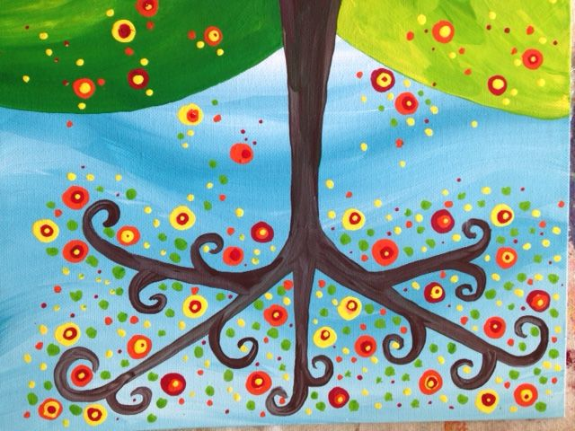 Kids Paint Party, Dot Tree, hosted by Krista - The Studio Art ...