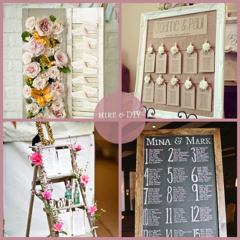Www Darbyandjoanvintage Co Uk Diy Table Seating Plans For Your Wedding